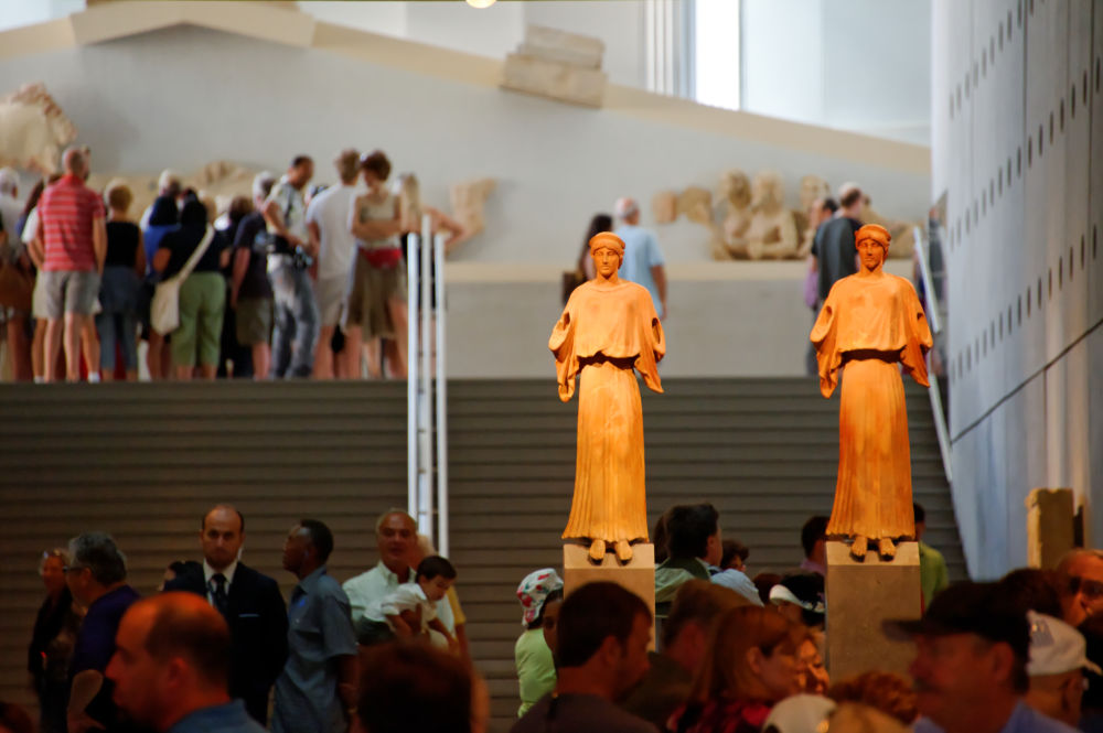 Aufgang ins Akropolis-Museum in Athen